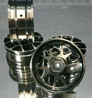 """1/10 RC CAR OPC ALUMINIUM ECHT METALL FELGEN 3MM OFFSET """"SILBER"""" 4 STÜCK # 19910"""