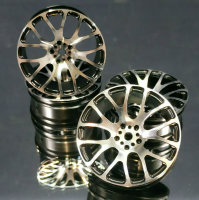 """1/10 RC CAR OPC ALUMINIUM ECHT METALL FELGEN 3MM OFFSET """"SILBER"""" 4 STÜCK # 19920"""