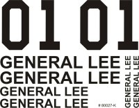 "DECAL AUFKLEBERBOGEN ""GENERAL LEE - DUKES OF HAZZARD"" 1:12 1:10 & 1:8 # 80027"
