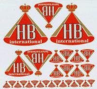 """AUFKLEBERBOGEN """"HB INTERNATIONAL"""" FÜR 1:12..."""
