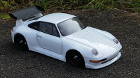 PORSCHE 911 GT2 KAROSSERIE FÜR TAMIYA M-CHASSIS 1:10 UNLACKIERT & DECALS # 11185