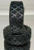 RC CAR 1/10 RALLY BLOCK REIFEN 26mm (2ST.) WEICH INK. EINLAGE F. TAMIYA # 20300