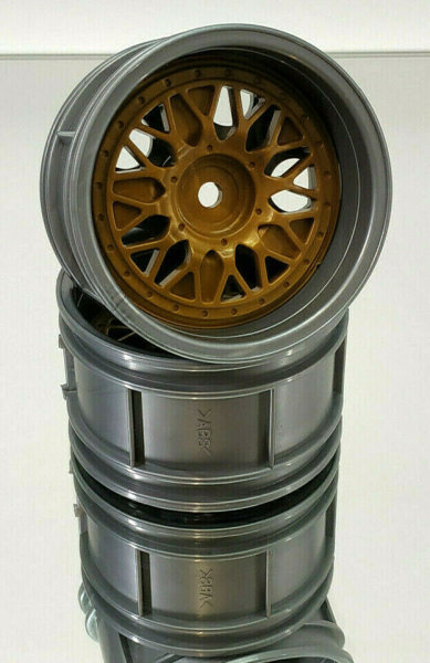 TAMIYA BBS TOURENWAGEN FELGEN 2-TEILIG 1:10 SILBER / GOLD 30mm # 300050549G
