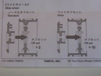 TAMIYA TOURENWAGEN FELGEN 2-TEILIG 1:10 CHROM / GOLD 30mm # 300050549