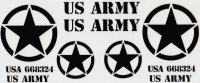 """DECAL AUFKLEBERBOGEN """"US ARMY"""" SCHWARZ..."""