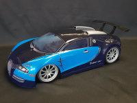 "RC CAR KAROSSERIE 1:10 ""SUPER CAR 1000"" IN BLAU 190MM BREIT # JLR19"