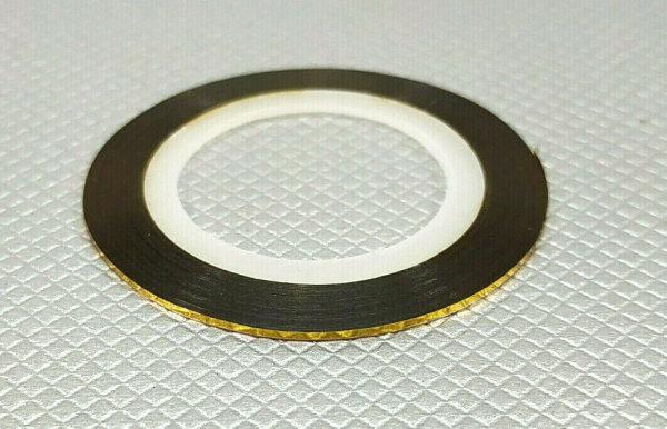 ZIERLINIEN LINIER BAND FINELINE TAPE KONTURENBAND GOLD 18m / 1mm BREIT # 19411