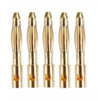 GOLDKONTAKTE GOLDSTECKER GOLDBUCHSEN 2mm 3,5mm 4mm 5mm 5,5mm - WÄHLEN SIE AUS !(2mm Stecker (5 St.))