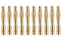 GOLDKONTAKTE GOLDSTECKER GOLDBUCHSEN 2mm 3,5mm 4mm 5mm 5,5mm - WÄHLEN SIE AUS !(2mm Stecker (10 St.))