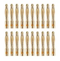 GOLDKONTAKTE GOLDSTECKER GOLDBUCHSEN 2mm 3,5mm 4mm 5mm 5,5mm - WÄHLEN SIE AUS !(2mm Stecker (20 St.))