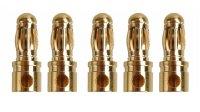 GOLDKONTAKTE GOLDSTECKER GOLDBUCHSEN 2mm 3,5mm 4mm 5mm 5,5mm - WÄHLEN SIE AUS !(3,5mm Stecker (5 St.))