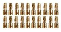 GOLDKONTAKTE GOLDSTECKER GOLDBUCHSEN 2mm 3,5mm 4mm 5mm 5,5mm - WÄHLEN SIE AUS !(3,5mm Stecker (20 St.))