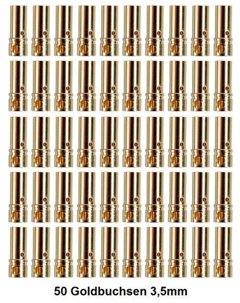 GOLDKONTAKTE GOLDSTECKER GOLDBUCHSEN 2mm 3,5mm 4mm 5mm 5,5mm - WÄHLEN SIE AUS !(3,5mm Buchsen (50 St.))