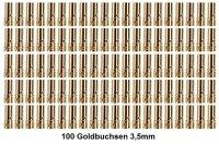 GOLDKONTAKTE GOLDSTECKER GOLDBUCHSEN 2mm 3,5mm 4mm 5mm 5,5mm - WÄHLEN SIE AUS !(3,5mm Buchsen (100 St.))