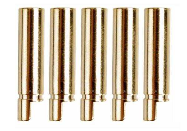 GOLDKONTAKTE GOLDSTECKER GOLDBUCHSEN 2mm 3,5mm 4mm 5mm 5,5mm - WÄHLEN SIE AUS !(4mm Buchsen (5 St.))