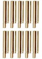 GOLDKONTAKTE GOLDSTECKER GOLDBUCHSEN 2mm 3,5mm 4mm 5mm 5,5mm - WÄHLEN SIE AUS !(4mm Buchsen (10 St.))