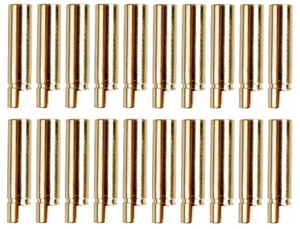 GOLDKONTAKTE GOLDSTECKER GOLDBUCHSEN 2mm 3,5mm 4mm 5mm 5,5mm - WÄHLEN SIE AUS !(4mm Buchsen (20 St.))