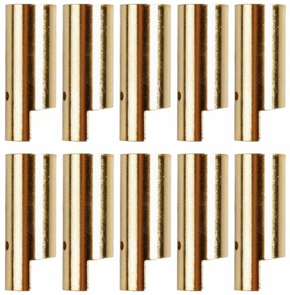 GOLDKONTAKTE GOLDSTECKER GOLDBUCHSEN 2mm 3,5mm 4mm 5mm 5,5mm - WÄHLEN SIE AUS !(5,5mm Buchsen (10 St.))
