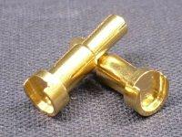 GOLDKONTAKT STECKER STUFENSTECKER BULLET PLUG 4/5MM ADAPTER 2 STÜCK # DTP02009