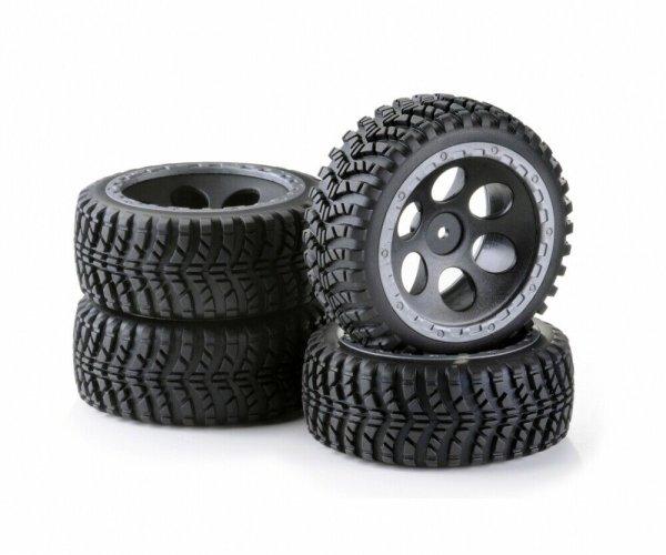 CARSON 1:10 REIFEN + FELGEN OFFROAD DESERT ALL TERRAIN 4WD BUGGY # 500900612
