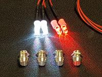 LED LIGHT-KIT BELEUCHTUNGSSATZ MIT 4 LED & HALTERUNG FÜR RC-CARS # LED-4V2