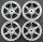 """1/10 RC CAR ALUMINIUM FELGEN Te37 6 SP. 6MM OFFSET """"SILBER"""" 4 STÜCK # 19906"""