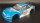 """RC CAR KAROSSERIE 1:10 """"NISSAN SKYLINE GTR R34"""" DRIFT IN BLAU SILBER"""