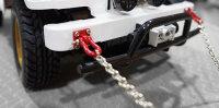 YEAH RACING ROCK CRAWLER SCALE 96CM METALL KETTE SILBER & SCHENKEL ROT # YA-0385
