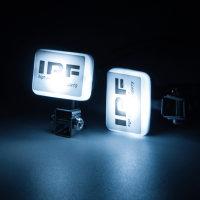MINIATUR MODELLBAU LED SCHEINWERFER CRAWLER RALLYE MIT IPF COVER #  LED-2-IPF