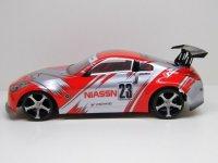 """RC CAR KAROSSERIE 1:10 """"NISSAN 350Z"""" IN ROT SILBER 190MM BREIT # HX006R"""