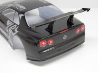 "RC CAR KAROSSERIE 1:10 ""NISSAN SKYLINE R34 GTR"" GRAUMETALLIC # HX020G"