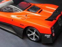 """RC CAR KAROSSERIE 1:10 """"PAZO"""" IN ROT 200MM BREIT INKL. SPOILER # HX032R"""