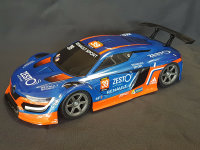 """RC CAR KAROSSERIE 1:10 """"RENAULT RS 01 GT"""" IN DUNKEL BLAU 195MM BREIT # JLR44DB"""
