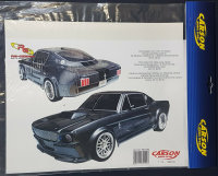 "CARSON AUFKLEBER DEKORBOGEN ""FORD MUSTANG GT-500"" # 69199"