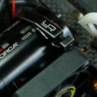 YEAH RACING ALUMINIUM LÜFTER HALTER INKL. 40mm TORNADO LÜFTER # YA-0526BK