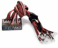 """CARSON LED RC CAR LICHTEINHEIT MULTI-LIGHT-KIT """"RACE"""" VORMONTIERT#  500906154"""
