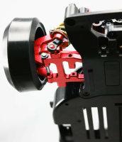 YEAH RACING ALUMINIUM DRIFT QUERLENKER UNTEN HINTE F. ALLE TT-01 ROT # TTR-002RD